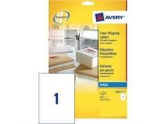 Etiket AVERY Inkjet 210x297 transparant/pak 25